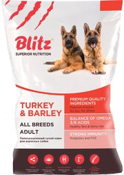 Blitz Adult All Breeds Turkey/Barley фото